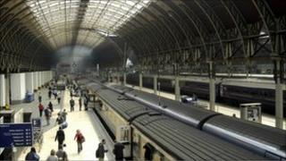 Paddington Mainline Station London