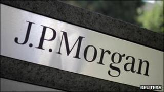 JP Morgan sign