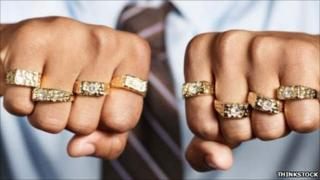 Fists with rings
