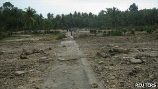 The remains of Muntei Baru Baru village on the Mentawai islands - 26 October 2010
