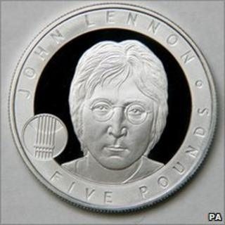 John Lennon £5 coin