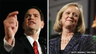 Marco Rubio and Meg Whitman (2 November 2010)