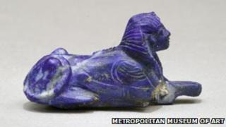 A sphinx bracelet jewel from King Tut's tomb