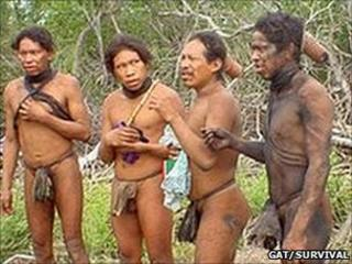 An Ayoreo tribe, first contacted in 2004 (Image: GAT/ Survival International)