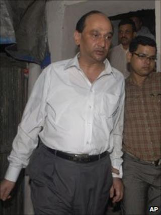 TS Darbari after his arrest