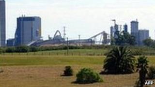 Paper mill in Uruguay - file photo