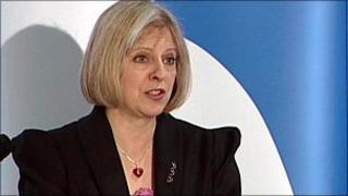 Theresa May gives her speech