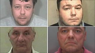 From top left: Lee Mitchell, Christopher Brooke, John Hartley and Ian Cole