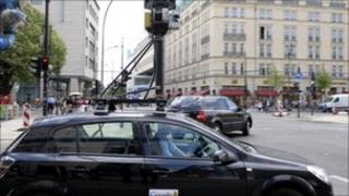 A Street View car in Berlin