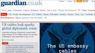 Guardian website