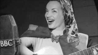 Carmen Miranda at the BBC in April 1948