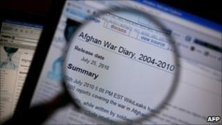 Page from Wikileaks website