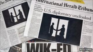 Newspapers headlined with the Wikileaks revelations