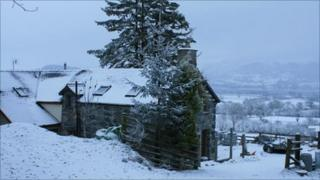Snow in Bala