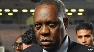 Issa Hayatou at a match in Tunis on 13 November 2010