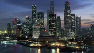 The skyline of Singapore