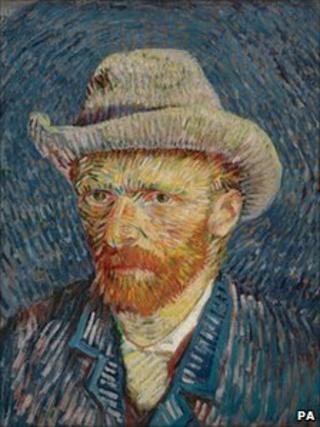 Self-portrait by Van Gogh