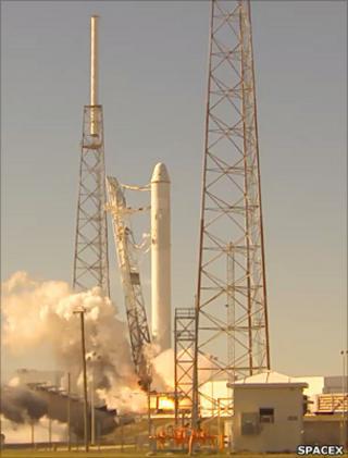 Falcon 9 static test firing
