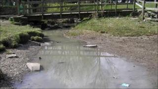 A picture of part of the Afon Goch taken by the Environment Agency