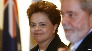 Dilma Rousseff with Luiz Inacio Lula da Silva at the G20 summit in Seoul in November