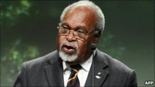 Michael Somare pictured in May 2010