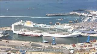 Cruise ship in Southampton