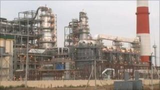 Tatneft's oil refinery under construction in Russia