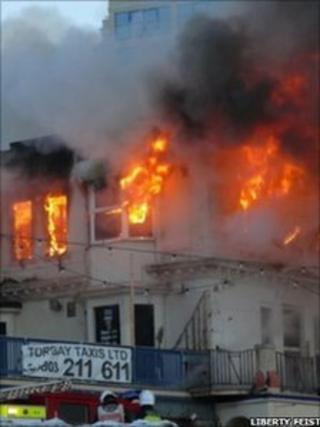 Torquay fire, photographed by Liberty Feist
