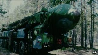 Russian Topol inter-continental ballistic missile (file pic)