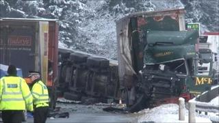Scene of the crash on the A9
