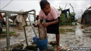 File image of a woman washing clothes in Dili, East Timor, on 11 April 2007