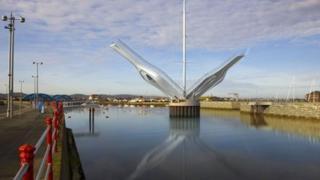 Artist impression of bridge