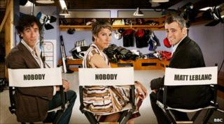 Episodes stars Stephen Mangan, Tamsin Greig and Matt LeBlanc