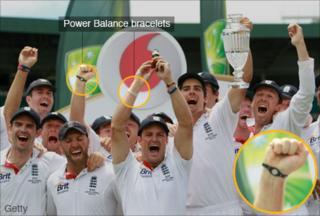 England's winning Ashes team