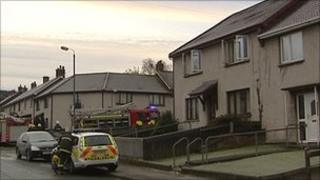 Four people were rescued from the fire including a baby