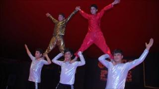 Acrobats from the Afghan children's circus