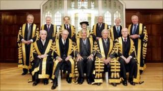 Members of the Supreme Court, April 2010.