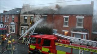 Fire in Long Eaton