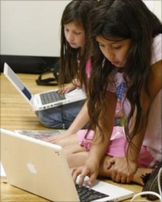 Children using Macs