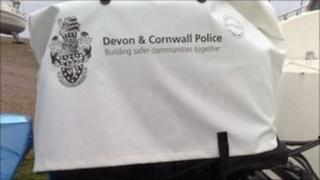 Devon and Cornwall Police outboard motor cover