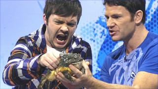 Barney Harwood, Steve Backshall and a frog