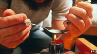 heroin user