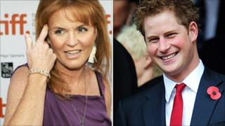 Duchess of York and Prince Harry