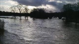 Flooding - picture from Scottish Borders Council