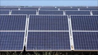 A solar park in California