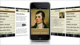 iPhone with Burns app