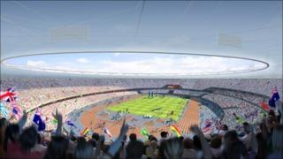 Mock-up of the Olympic stadium