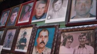 Photographs of missing Kosovan Serbs