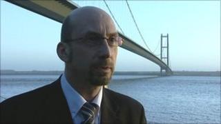 Malcolm Scott at Humber Bridge