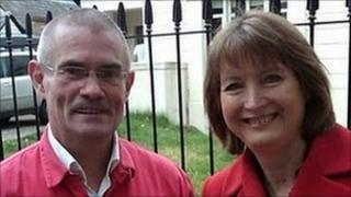 Stephen Govier and Harriet Harman
